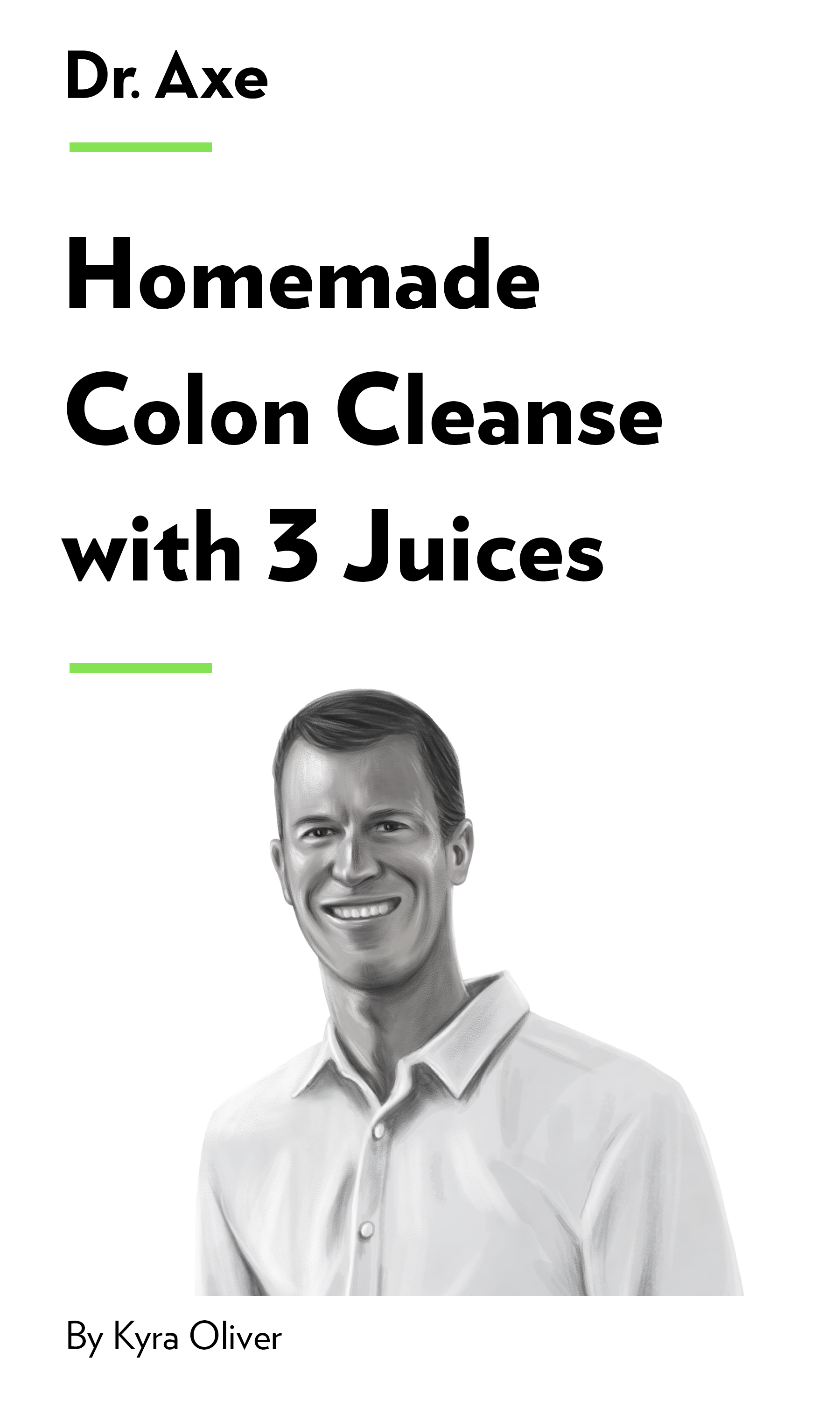 """Book Cover for """"Homemade Colon Cleanse with 3 Juices"""""""