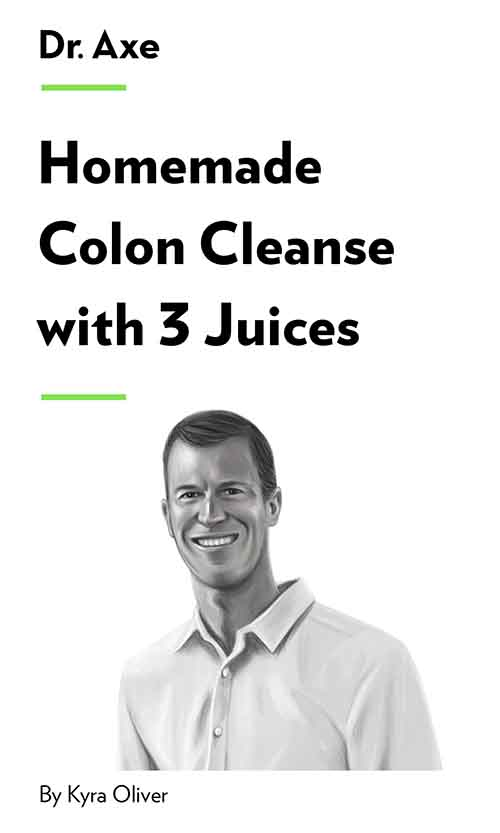 "Book Cover for ""Homemade Colon Cleanse with 3 Juices"""