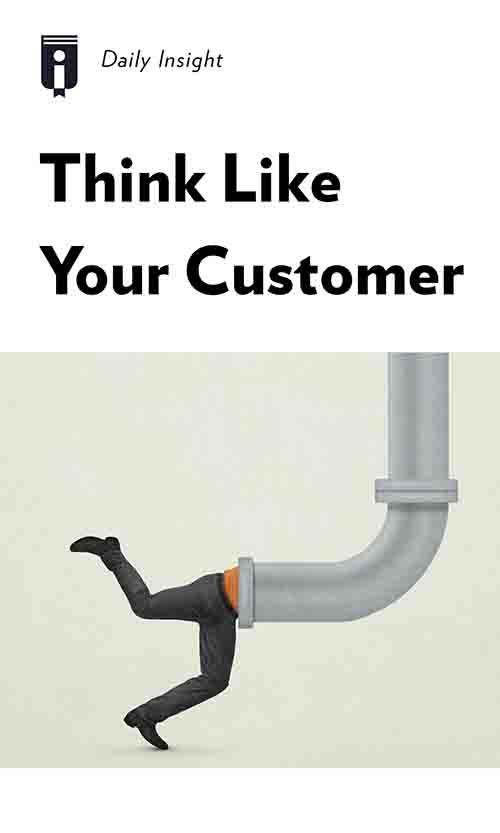 """Book Cover for """"Think Like Your Customer"""""""