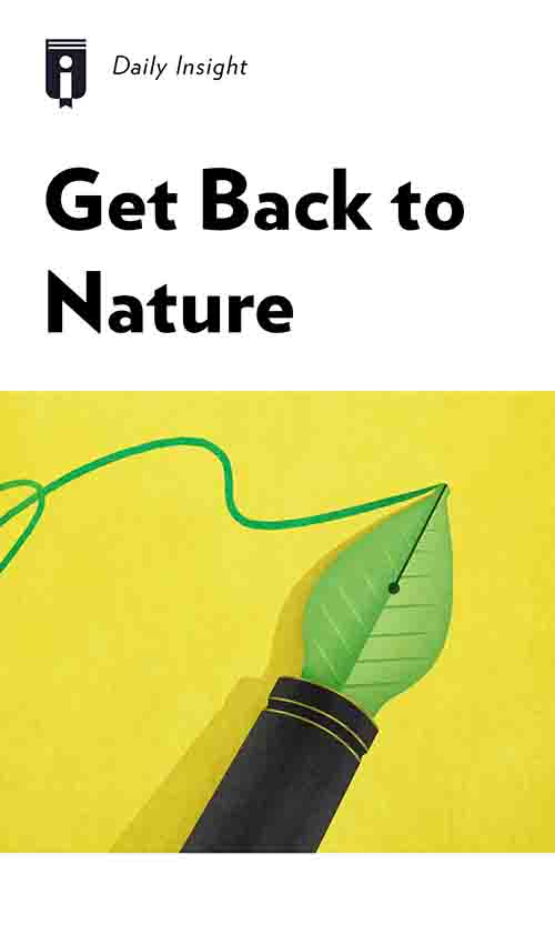 "Book Cover for ""Get Back to Nature"""