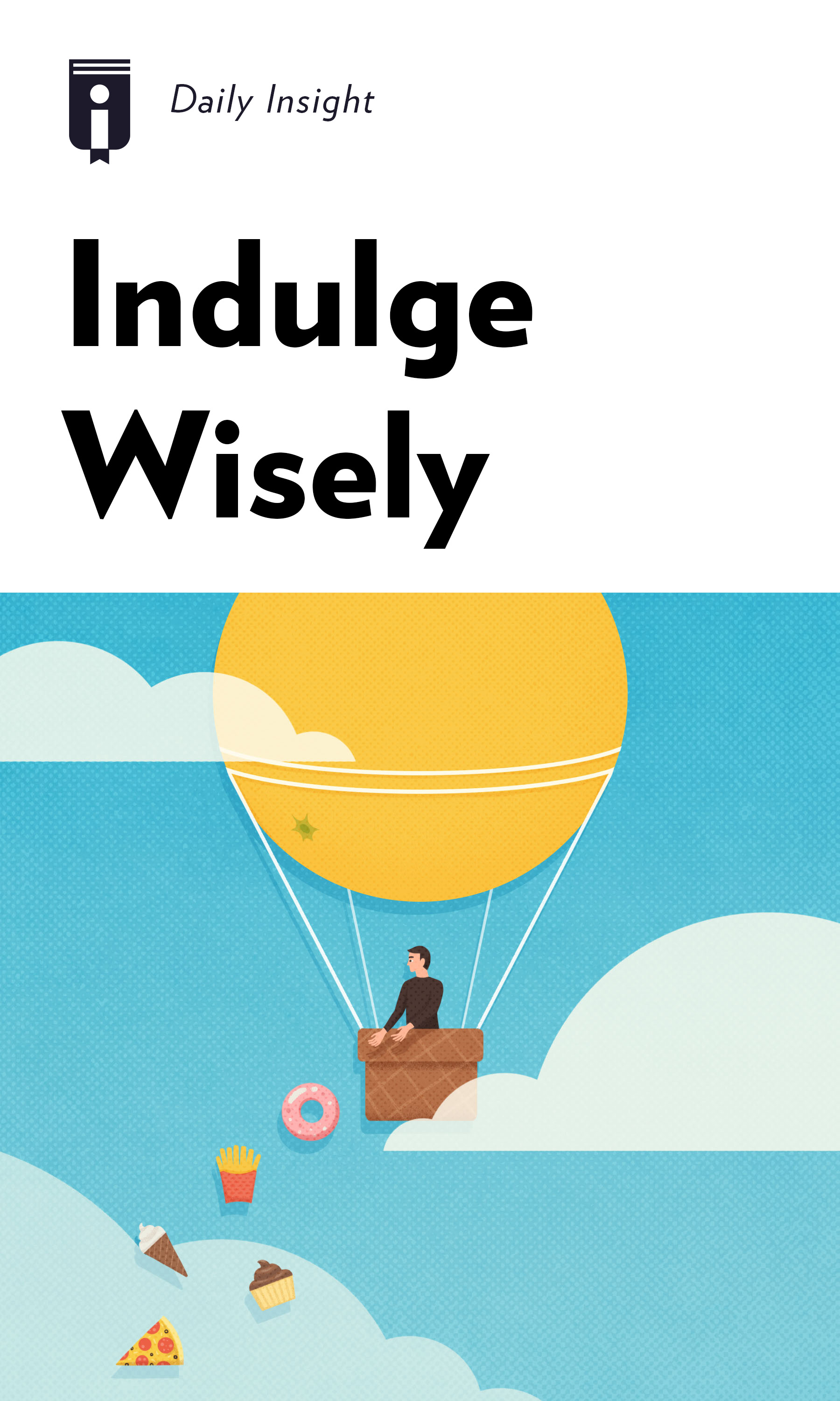 """Book Cover for """"Indulge Wisely"""""""