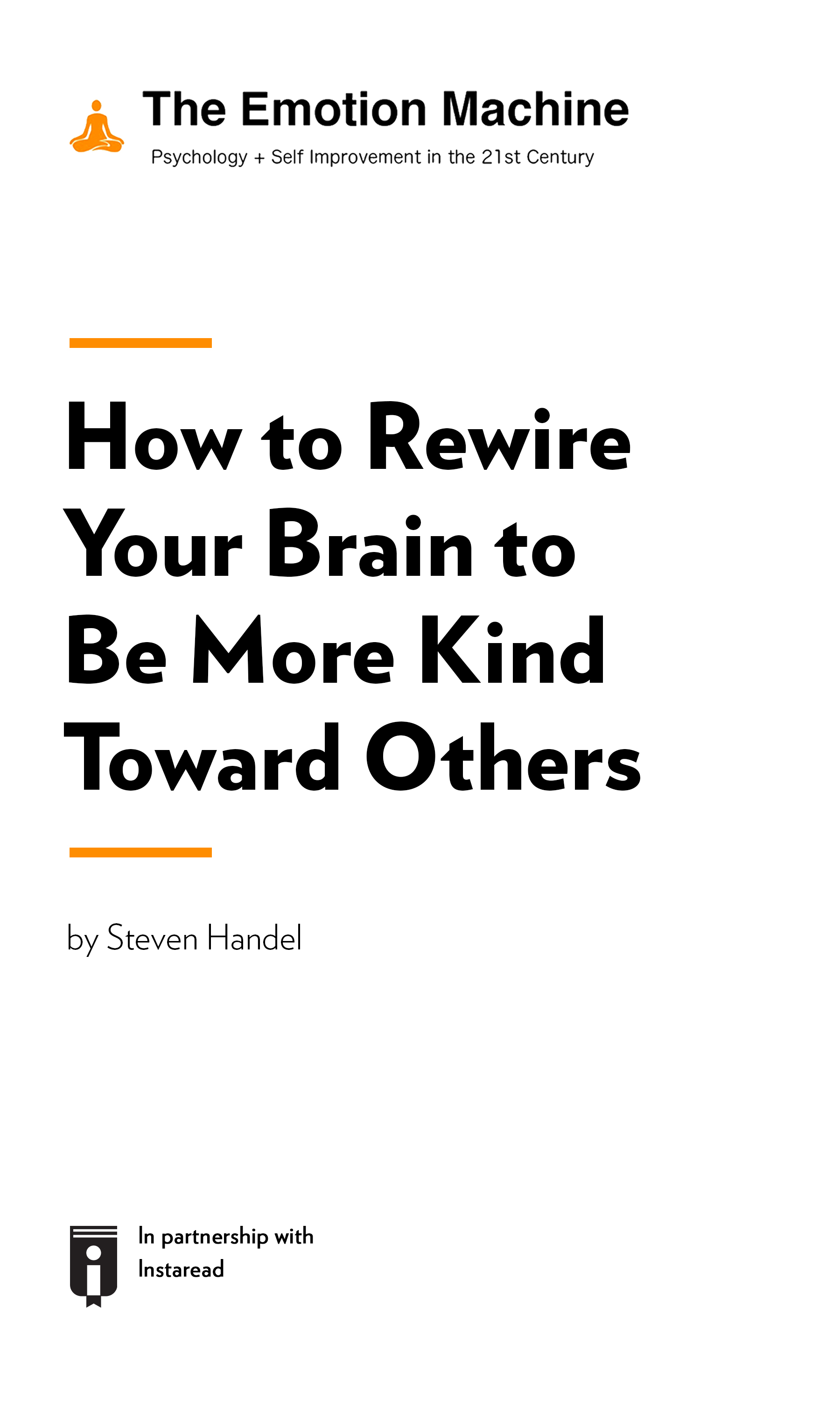 """Book Cover for """"How to Rewire Your Brain to Be More Kind Toward Others"""""""