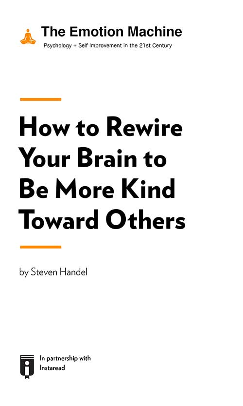 "Book Cover for ""How to Rewire Your Brain to Be More Kind Toward Others"""