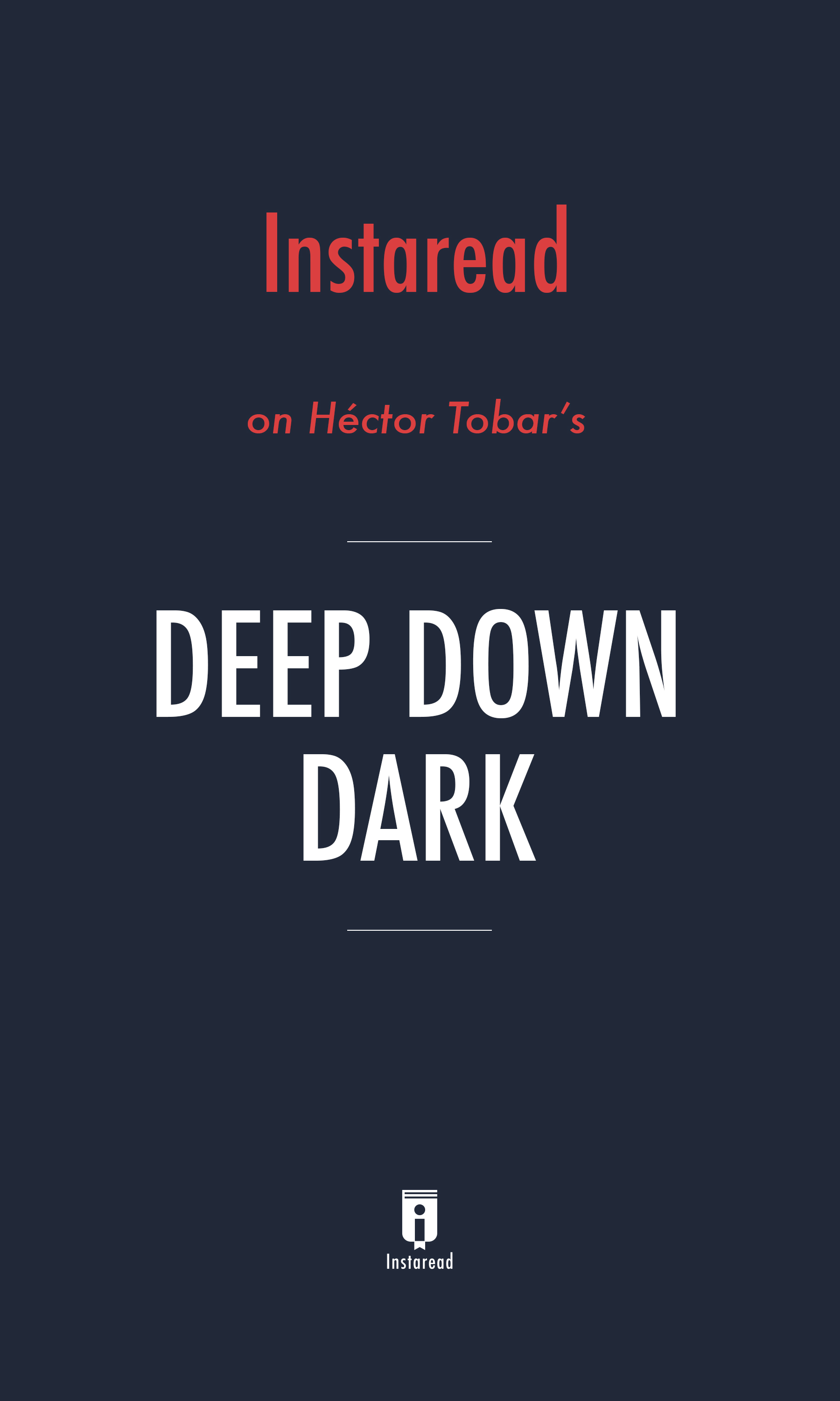 """Book Cover for """"Deep Down Dark"""""""