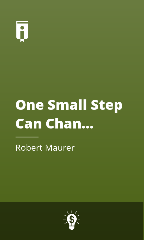 """Book Cover for """"One Small Step Can Change Your Life"""""""