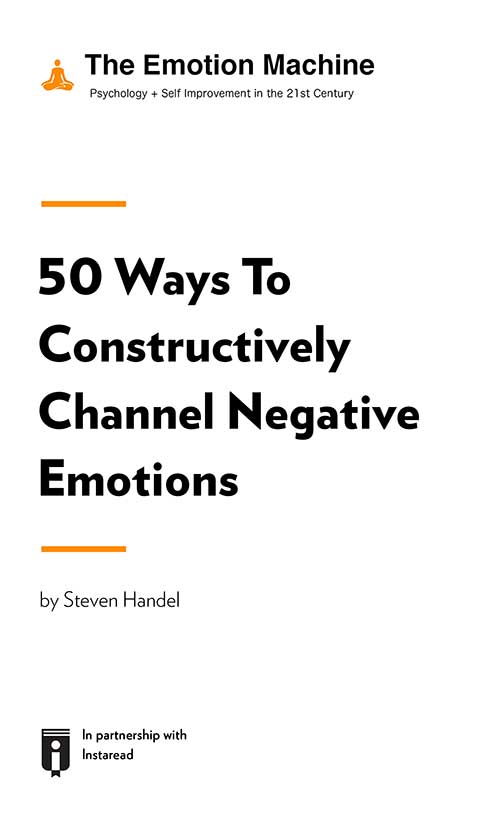"Book Cover for ""50 Ways To Constructively Channel Negative Emotions"""