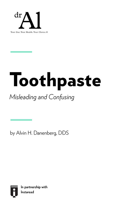 "Book Cover for ""Toothpaste:  Misleading and Confusing"""