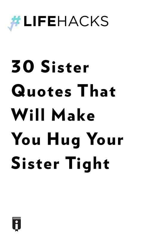 "Book Cover for ""30 Sister Quotes That Will Make You Hug Your Sister Tight"""