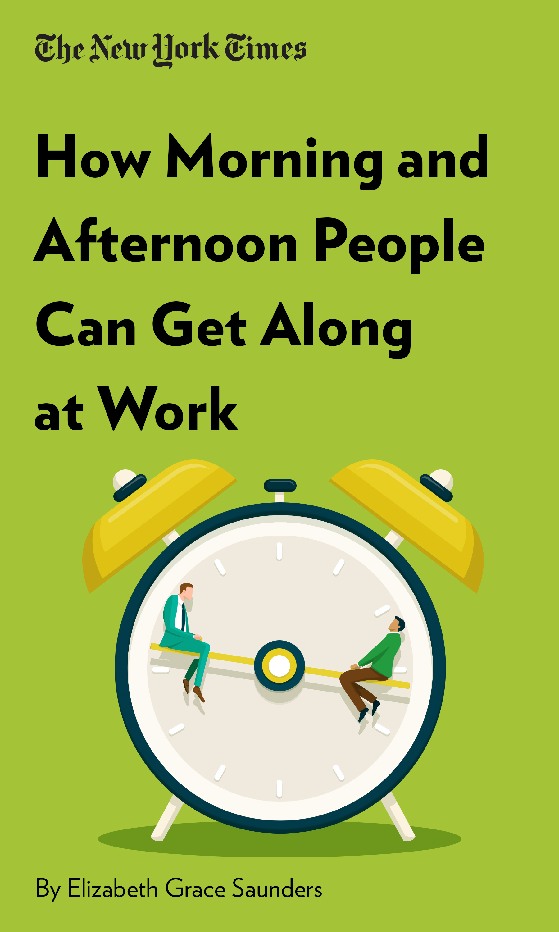 """Book Cover for """"How Morning and Afternoon People Can Get Along at Work"""""""