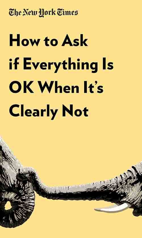 "Book Cover for ""How to Ask if Everything Is OK When It's Clearly Not"""