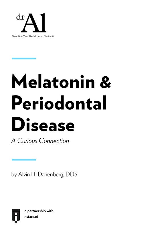 "Book Cover for ""Melatonin & Periodontal Disease - A Curious Connection"""