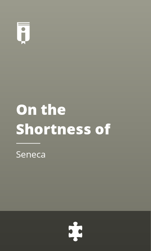 """Book Cover for """"On the Shortness of Life"""""""