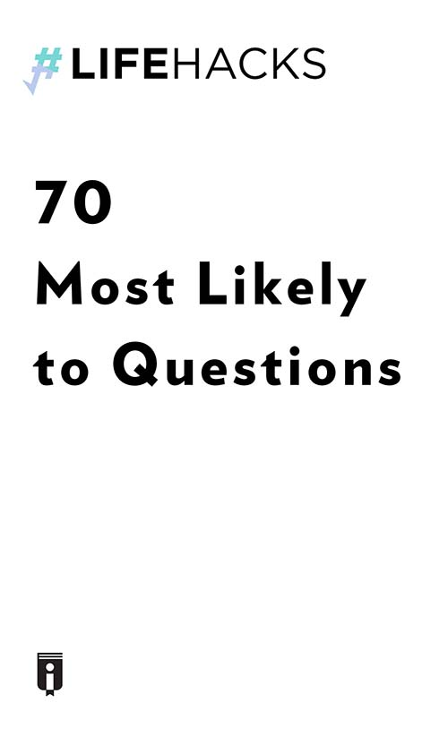 "Book Cover for ""70 Most Likely to Questions"""