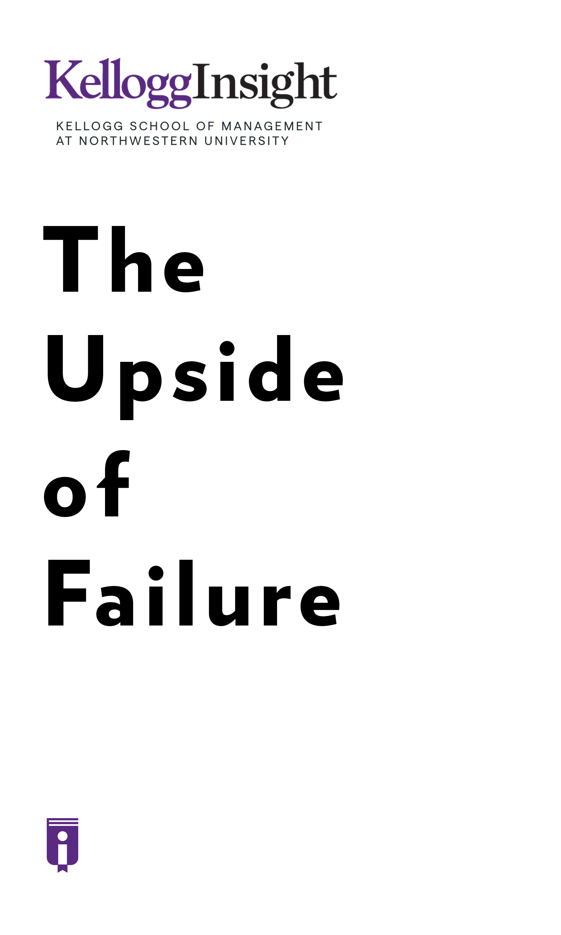 """Book Cover for """"The Upside of Failure"""""""