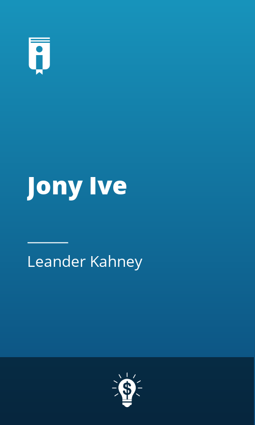 """Book Cover for """"Jony Ive"""""""