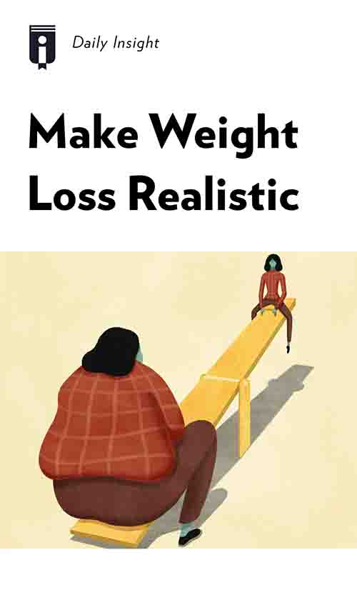 "Book Cover for ""Make Weight Loss Realistic"""