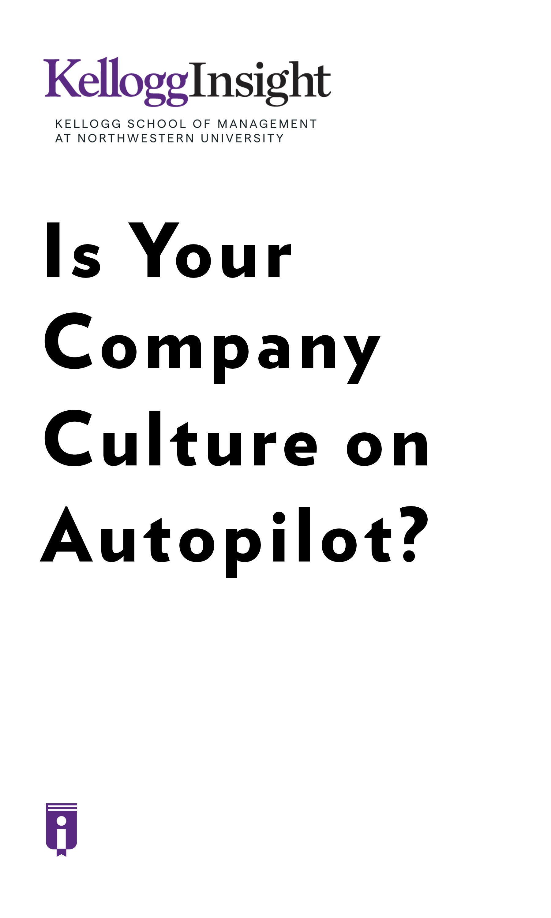 """Book Cover for """"Is Your Company Culture on Autopilot?"""""""