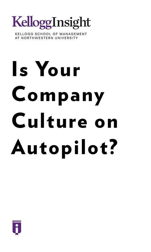 "Book Cover for ""Is Your Company Culture on Autopilot?"""