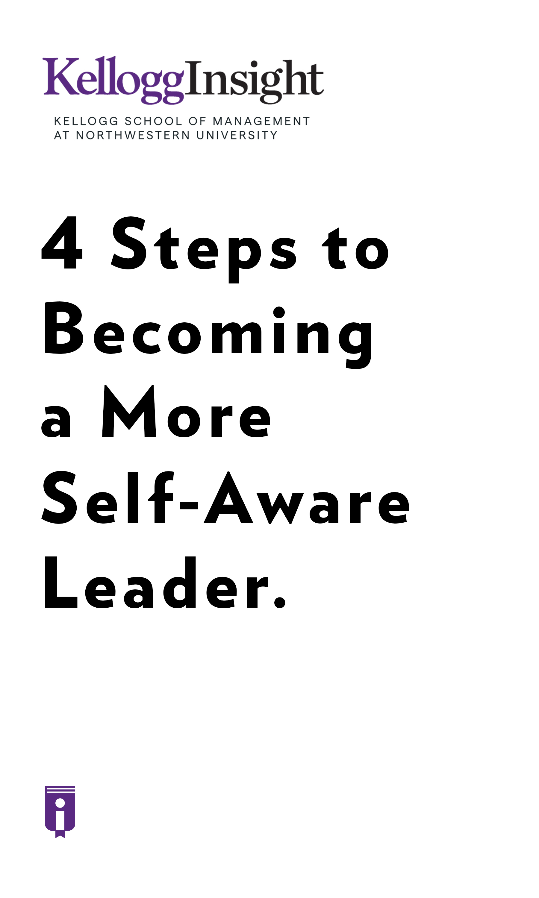 """Book Cover for """"4 Steps to Becoming a More Self-Aware Leader."""""""