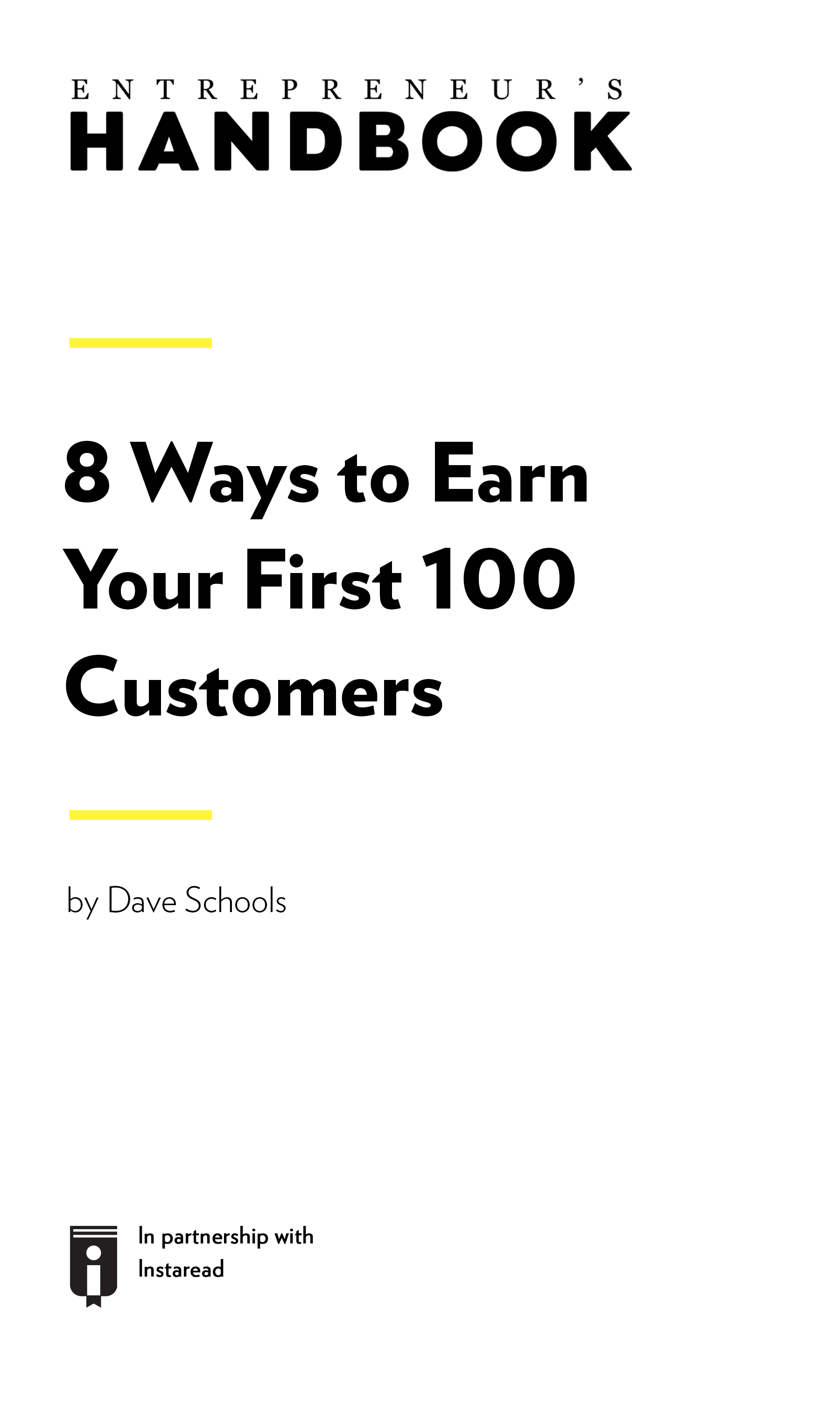 "Book Cover for ""8 Ways to Earn Your First 100 Customers"""