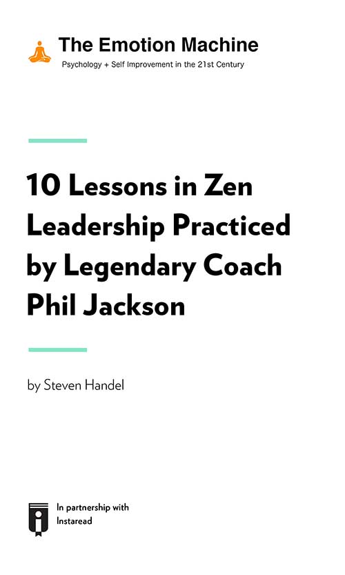 "Book Cover for ""10 Lessons in Zen Leadership Practiced by Legendary Coach Phil Jackson"""