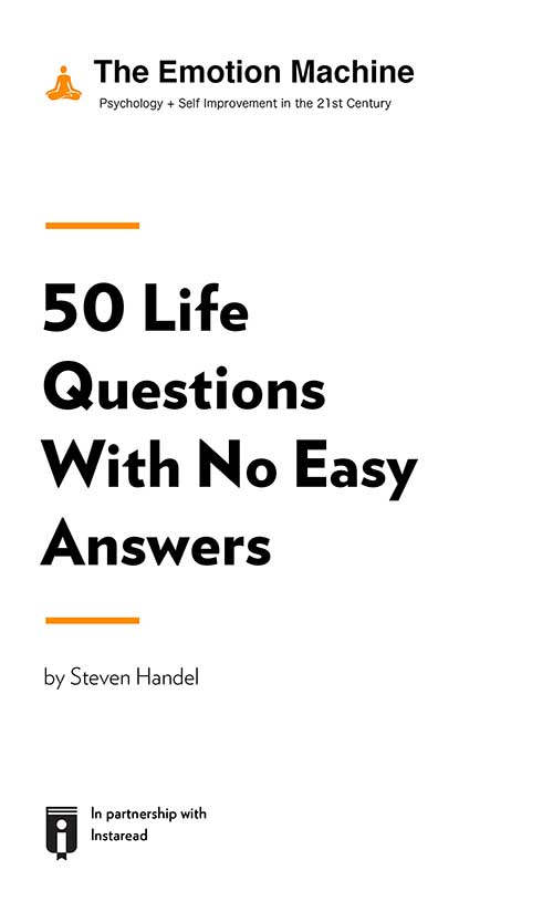 "Book Cover for ""50 Life Questions With No Easy Answers"""