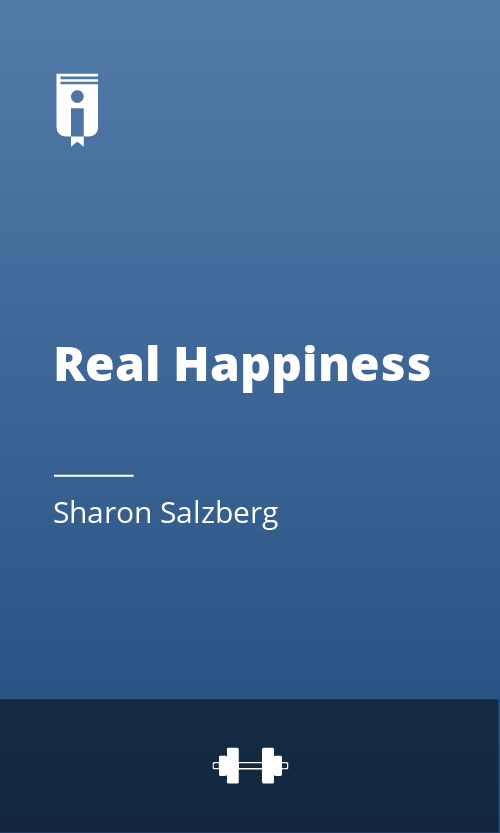 """Book Cover for """"Real Happiness"""""""