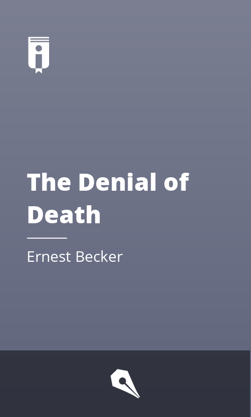 "Book Cover for ""The Denial of Death"""