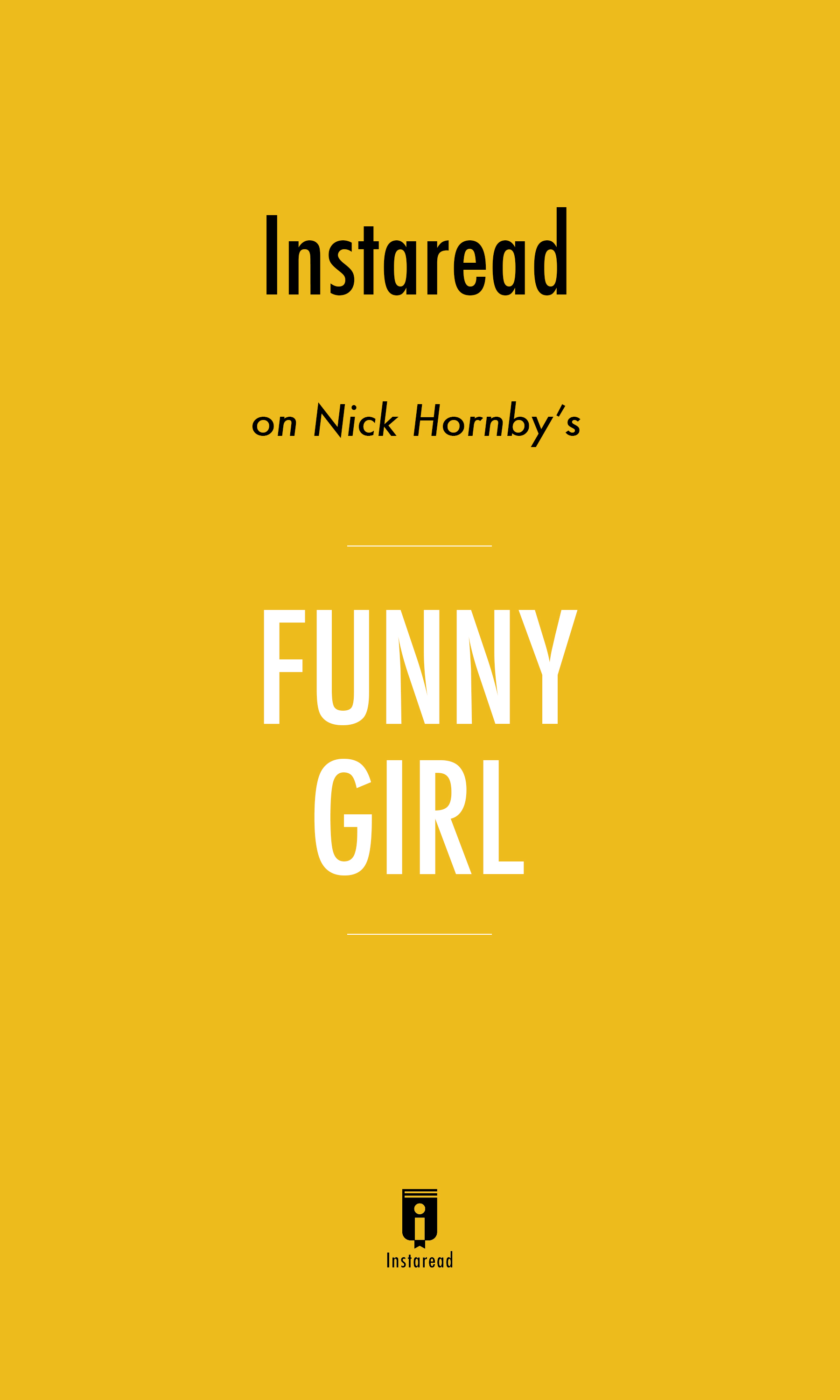 "Book Cover for ""Funny Girl"""