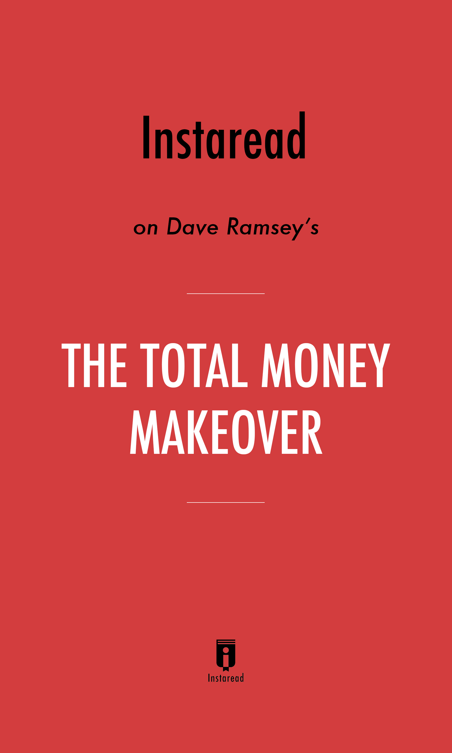 """Book Cover for """"The Total Money Makeover"""""""