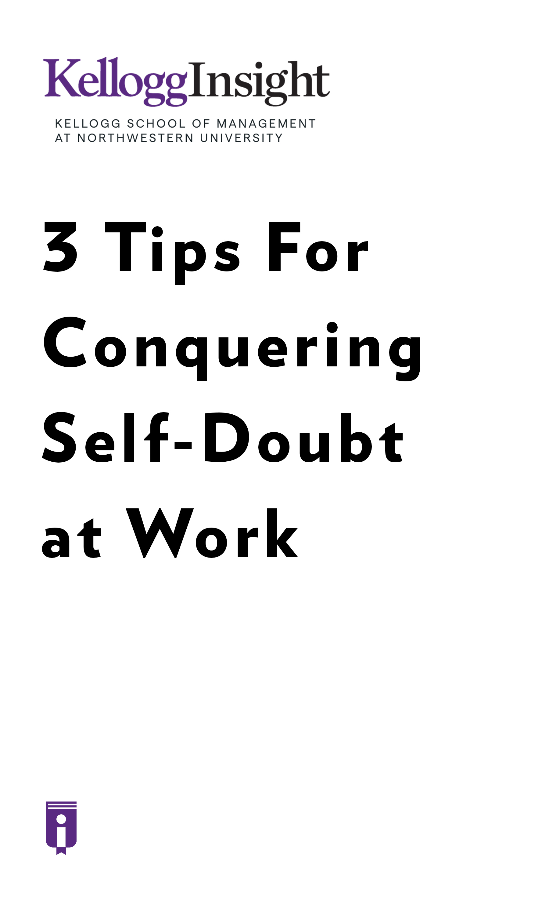 "Book Cover for ""3 Tips for Conquering Self-Doubt at Work"""
