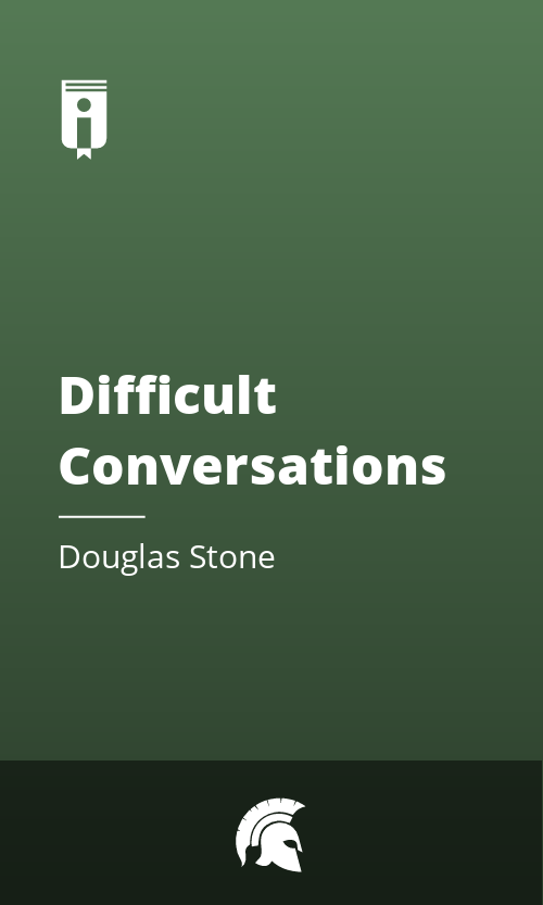 """Book Cover for """"Difficult Conversations"""""""