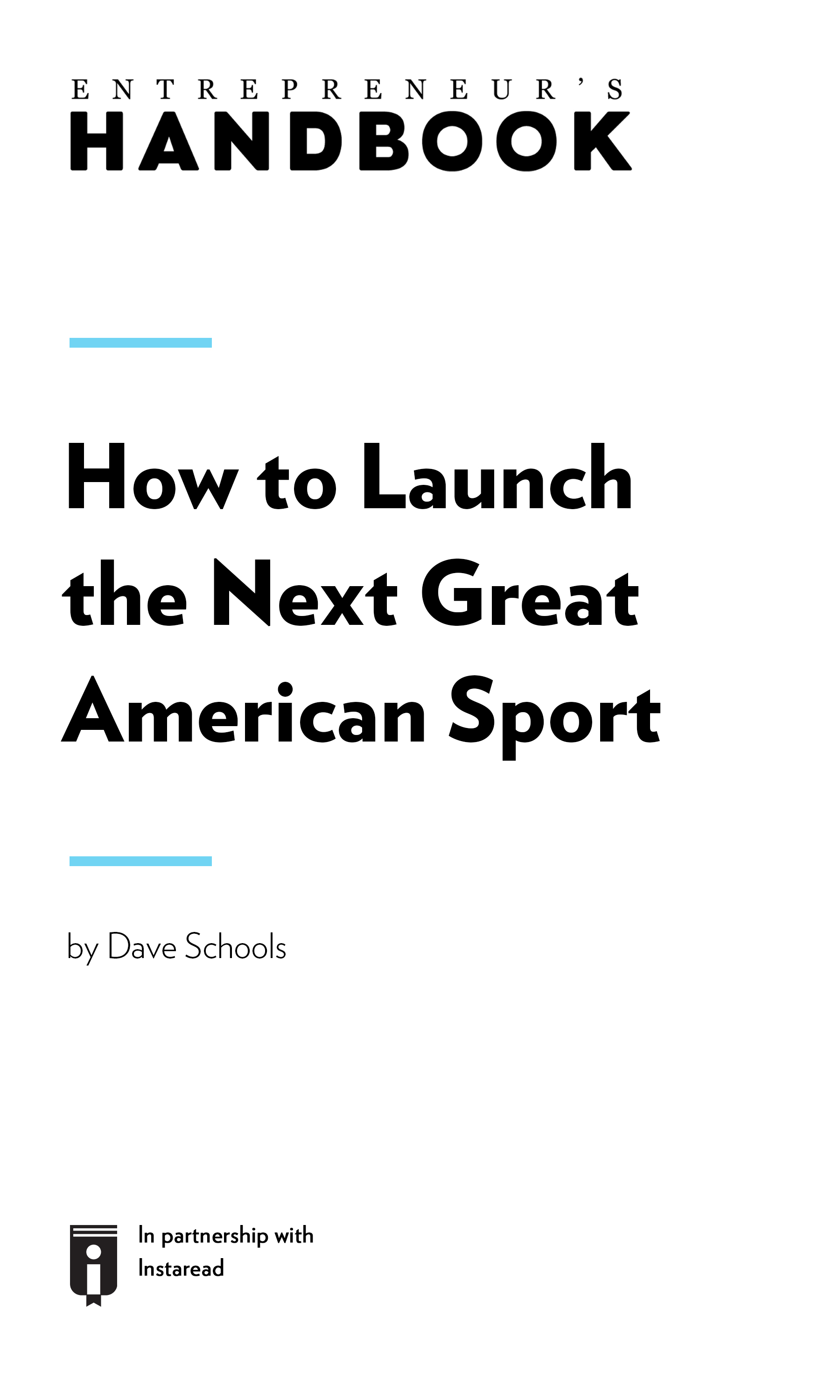 "Book Cover for ""How to Launch the Next Great American Sport"""
