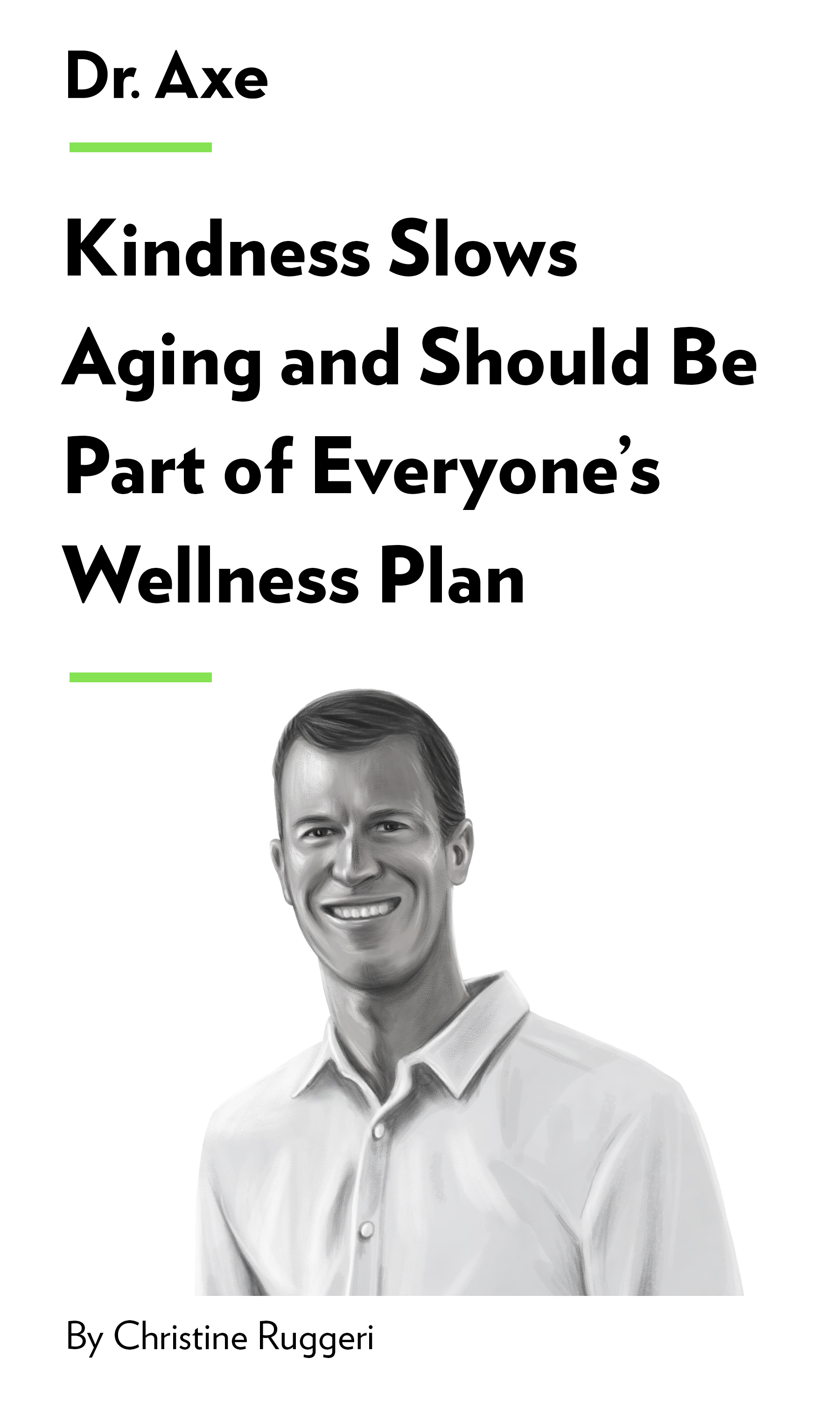 "Book Cover for ""Kindness Slows Aging and Should Be Part of Everyone's Wellness Plan"""