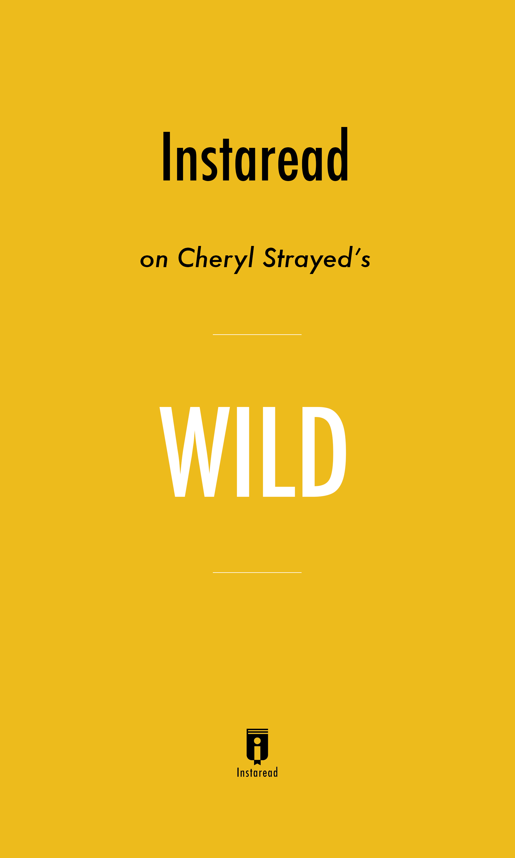 "Book Cover for ""Wild"""