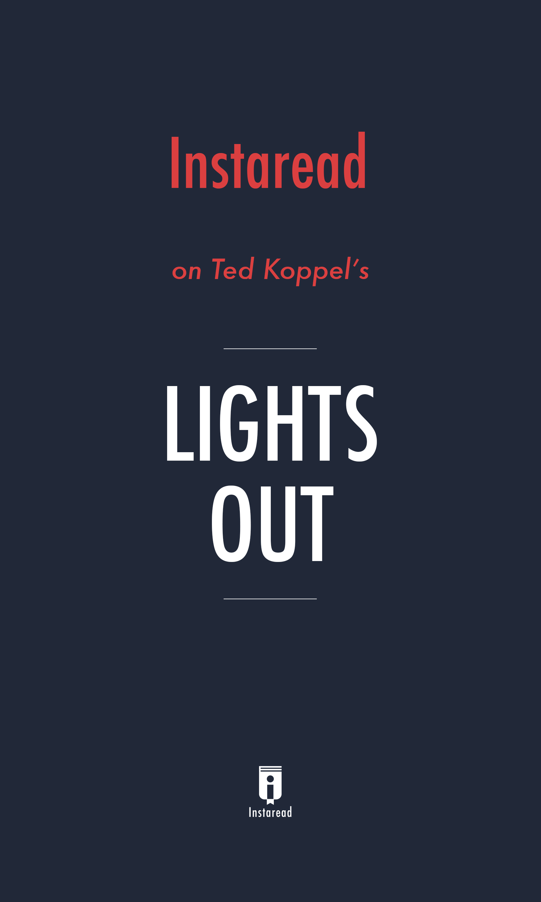 "Book Cover for ""Lights Out"""