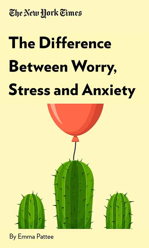"Book Cover for ""The Difference Between Worry, Stress and Anxiety"""