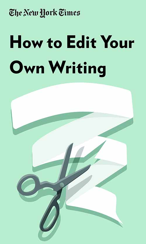 "Book Cover for ""How to Edit Your Own Writing"""