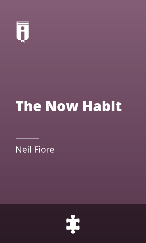 """Book Cover for """"The Now Habit"""""""