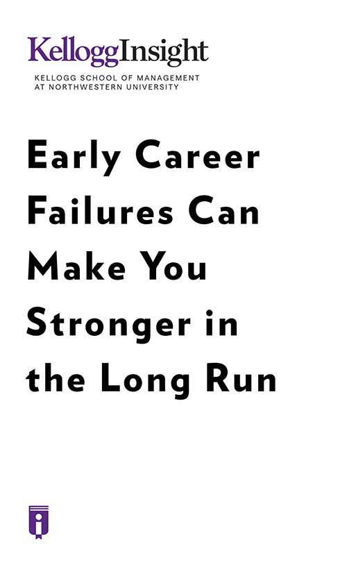 "Book Cover for ""Early Career Failures Can Make You Stronger in the Long Run"""