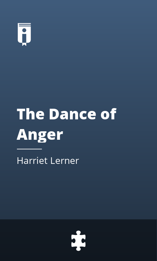 """Book Cover for """"The Dance of Anger"""""""