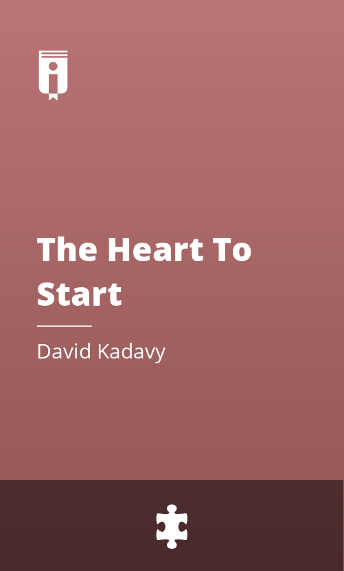 """Book Cover for """"The Heart To Start"""""""