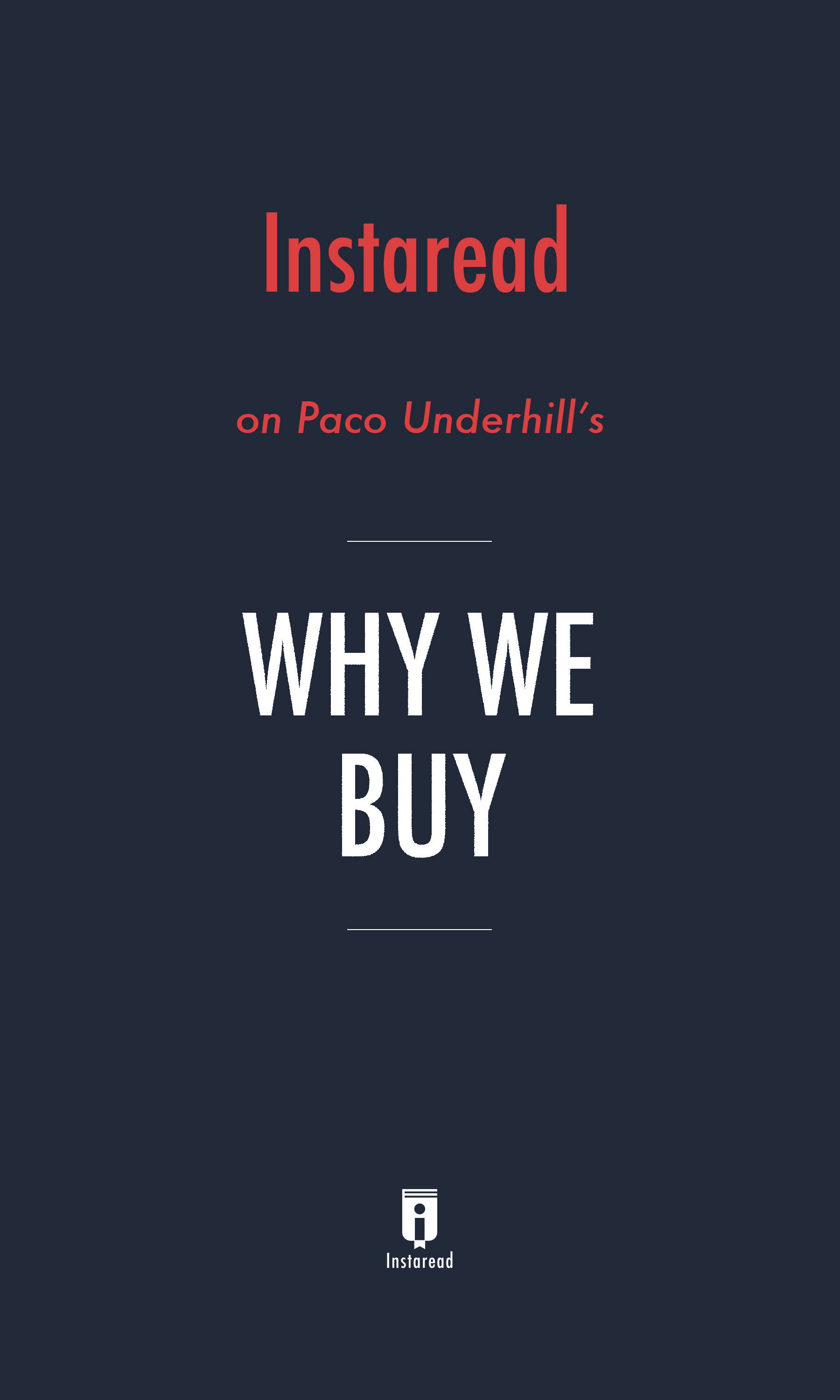 """Book Cover for """"Why We Buy"""""""
