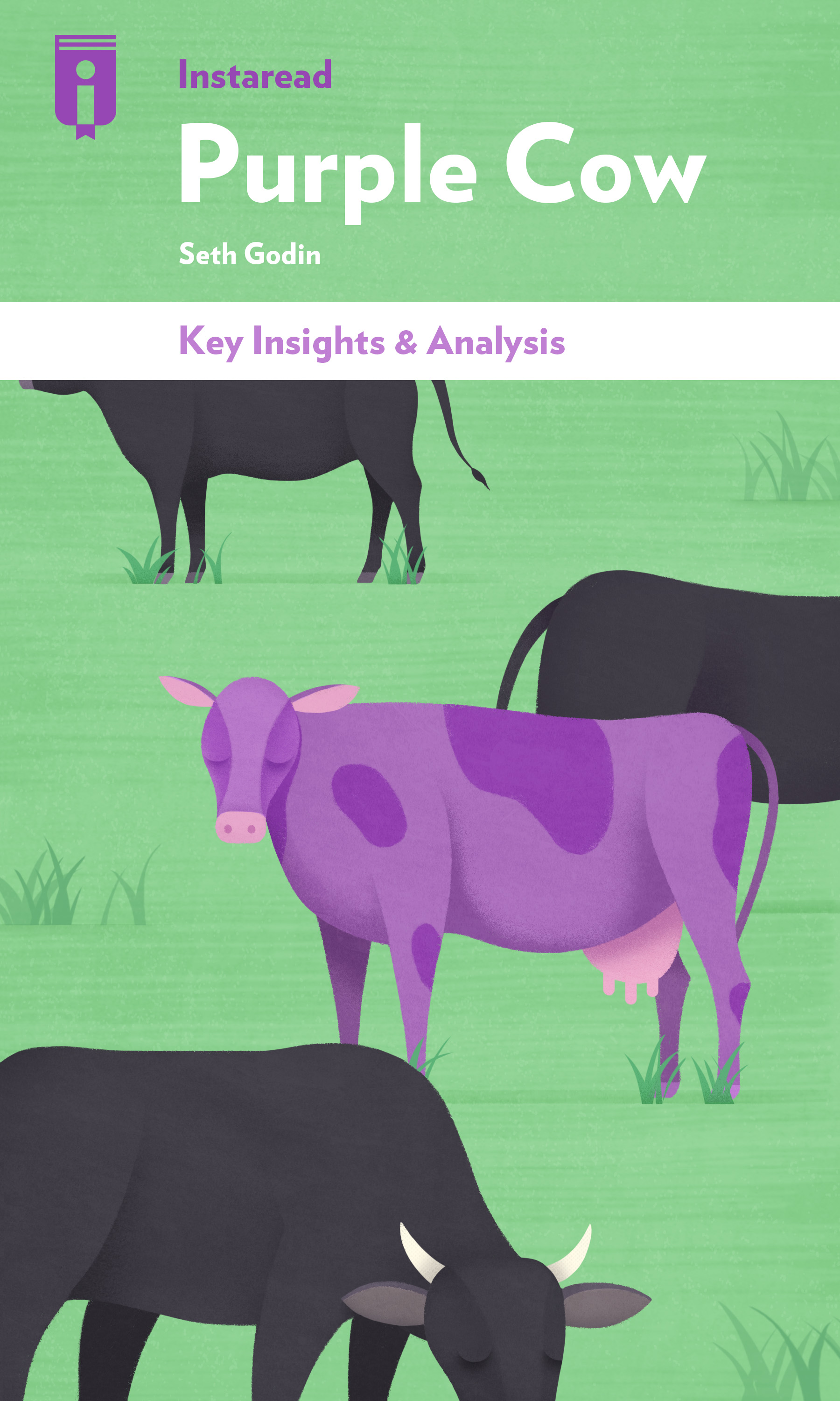 "Book Cover for ""Purple Cow"""