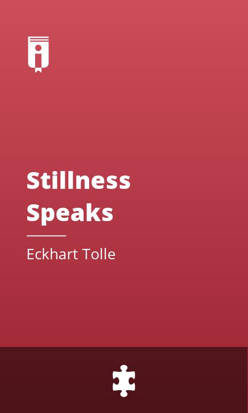 """Book Cover for """"Stillness Speaks"""""""