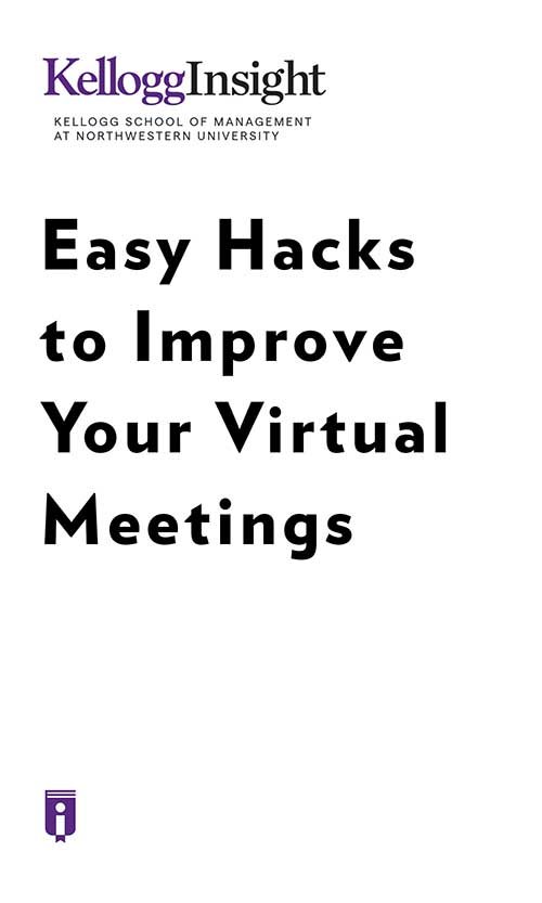 "Book Cover for ""Easy Hacks to Improve Your Virtual Meetings"""