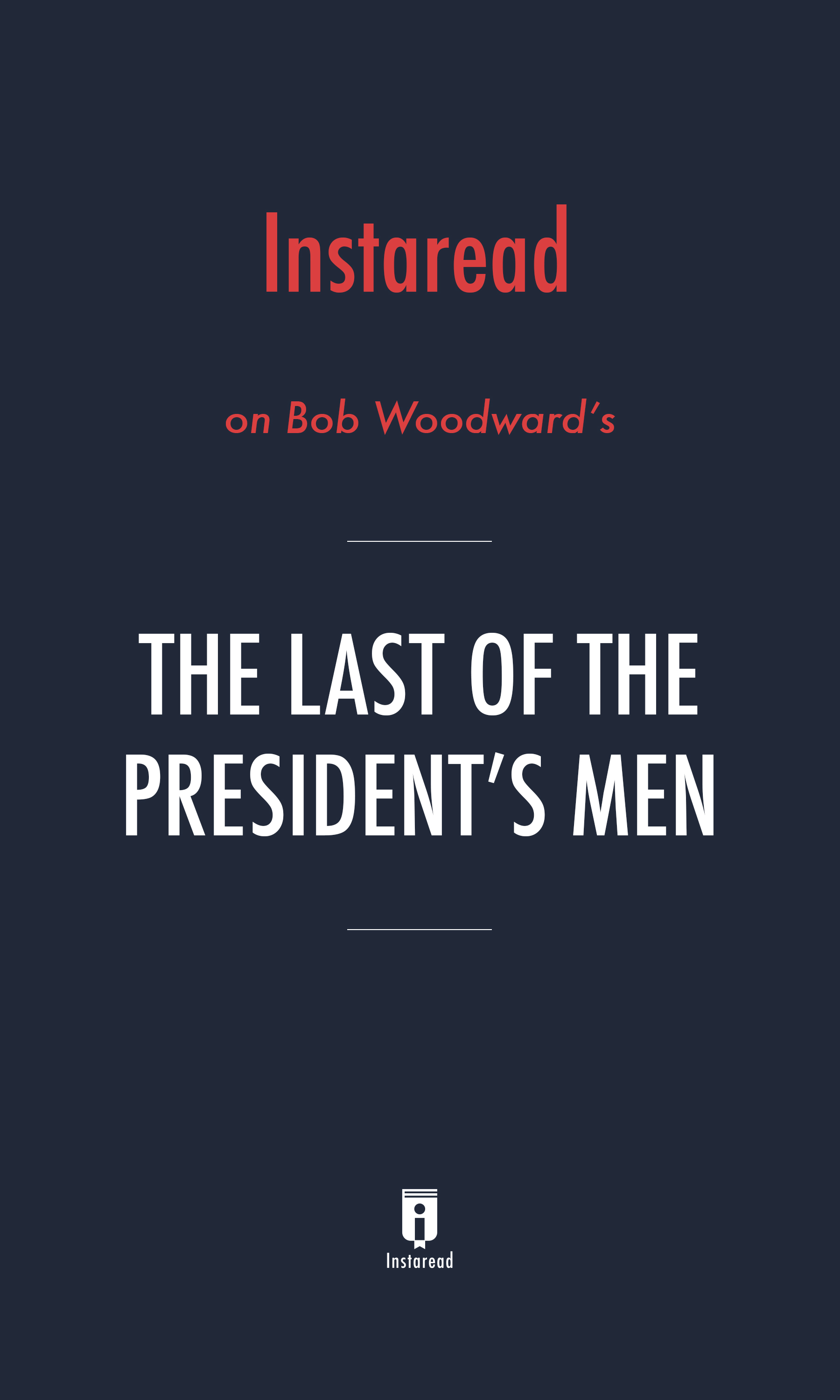 "Book Cover for ""The Last of the President's Men"""