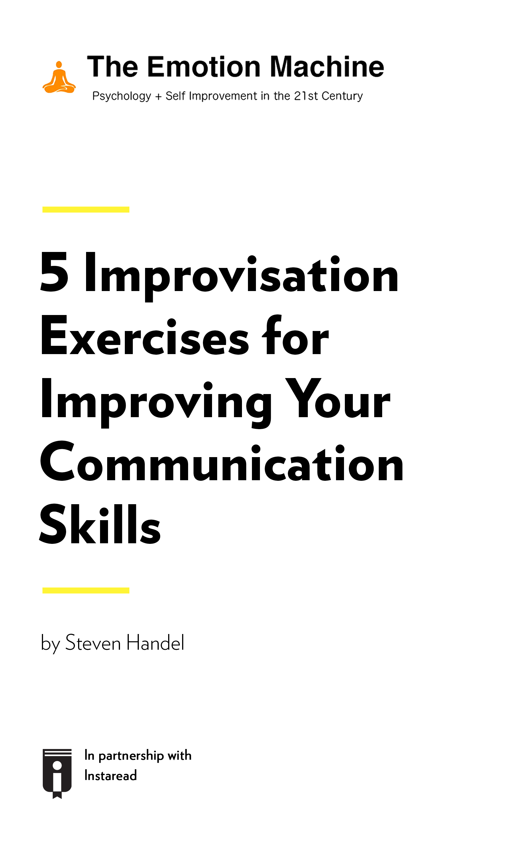 "Book Cover for ""5 Improvisation Exercises for Improving Your Communication Skills"""