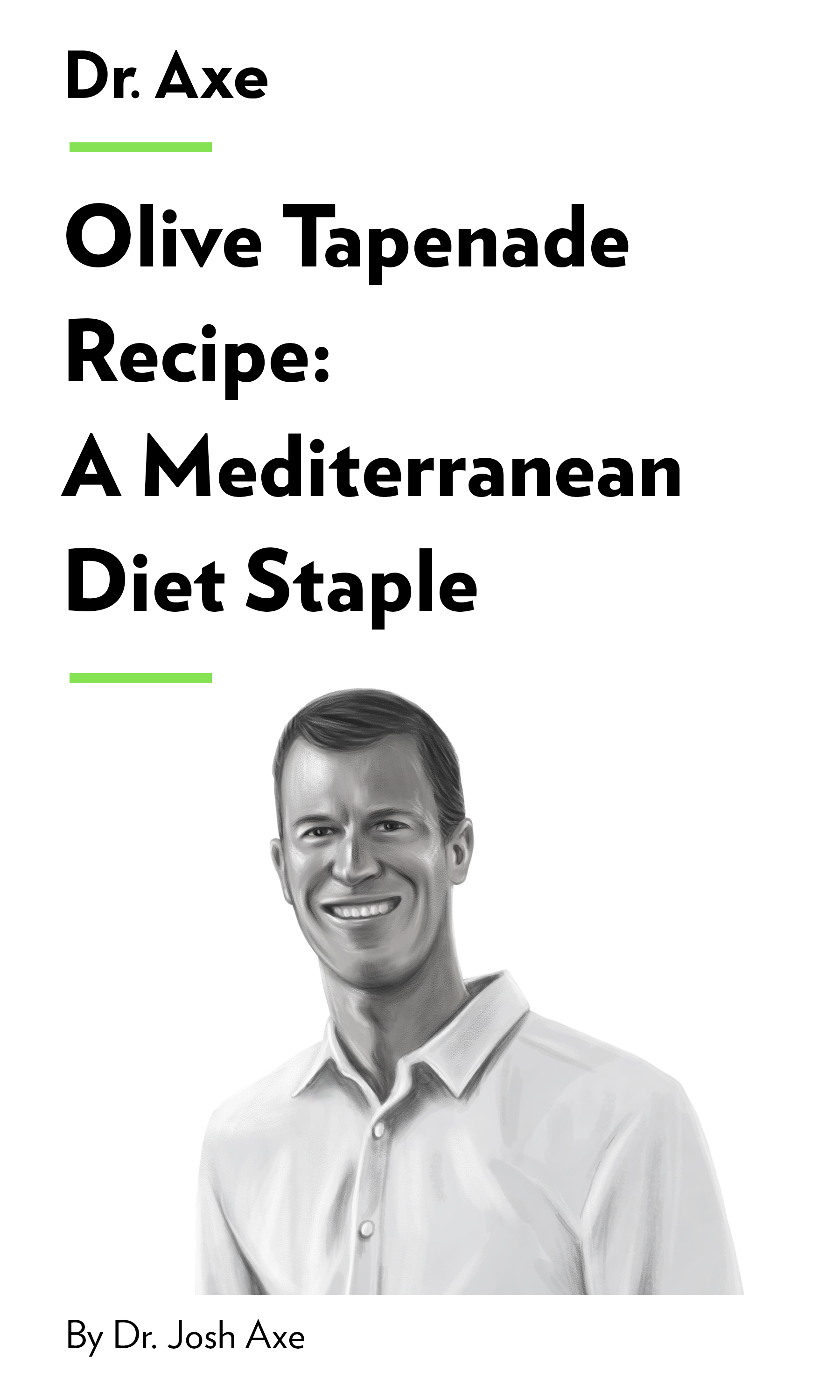 "Book Cover for ""Olive Tapenade Recipe: A Mediterranean Diet Staple"""