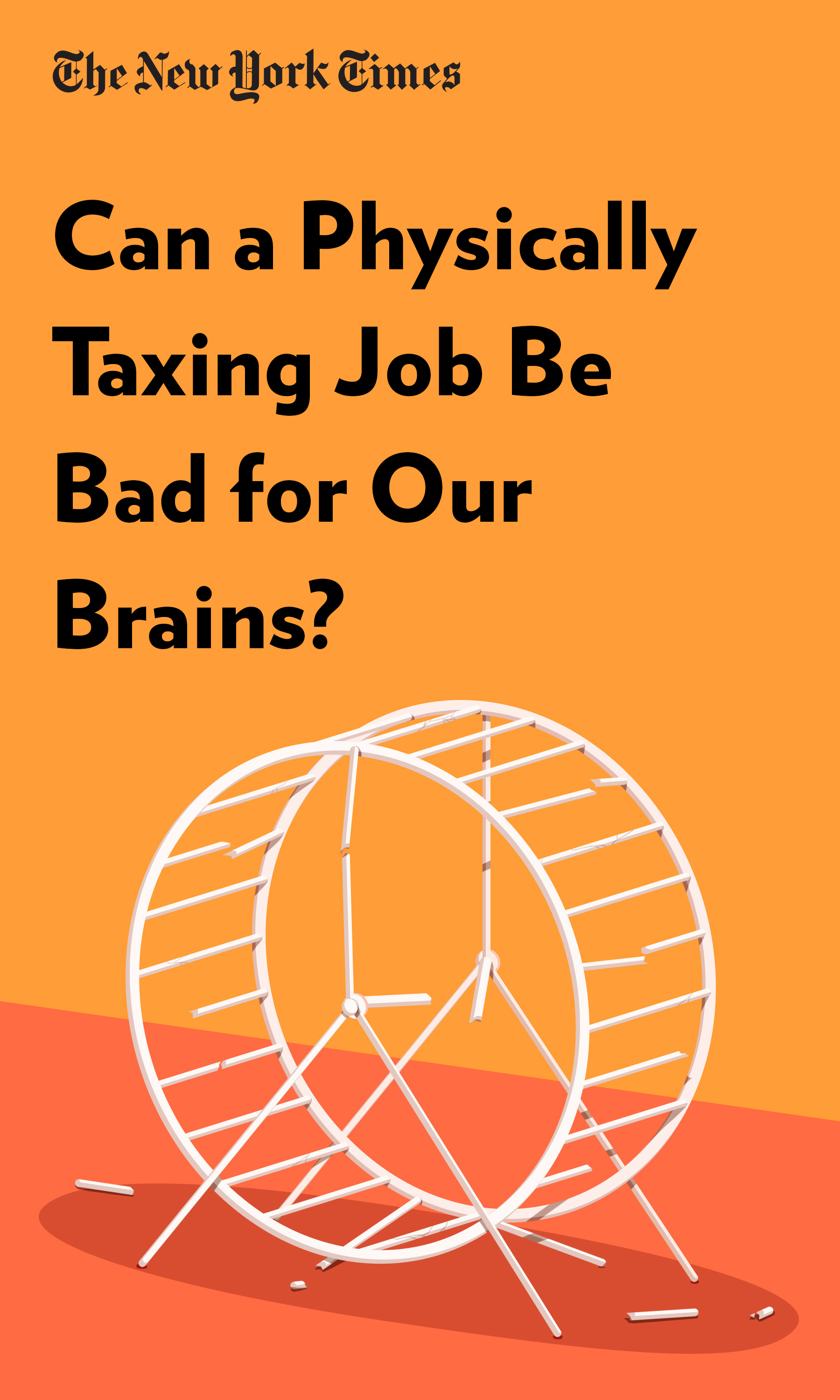 """Book Cover for """"Can a Physically Taxing Job Be Bad for Our Brains?"""""""